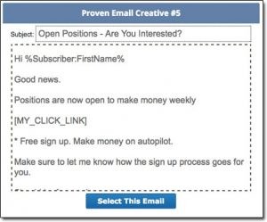GIM System Spam Email Template
