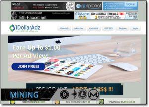 1DollarAdz.com Website