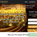 Crypto VIP Club Website Screenshot
