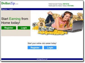 DollarZip.com Website Screenshot Thumbnail