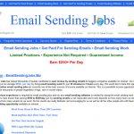 Email Sending Jobs Website