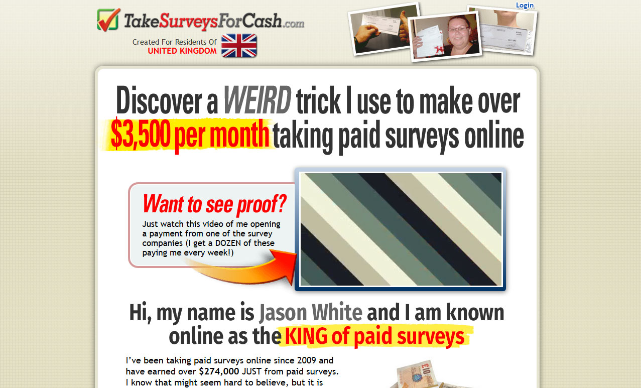 Is Take Surveys For Cash a SCAM? Review of Jason White's