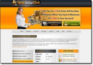 Three Dollar Click Homepage