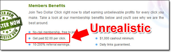 Two Dollar Click Income Claims