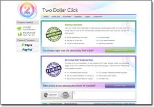 Two Dollar Click Homepage
