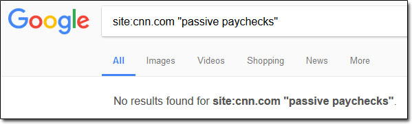 Passive Paychecks CNN