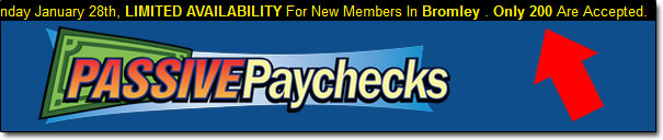 Passive Paychecks System Limited Availability Banner