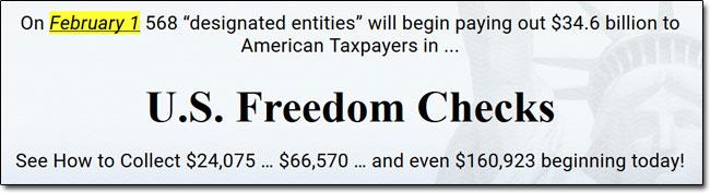 US Freedom Checks