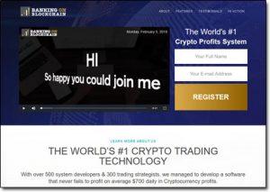 Banking on Blockchain Website Screenshot Thumb
