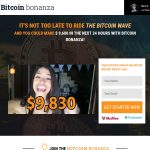 Bitcoin Bonanza System Website Screenshot