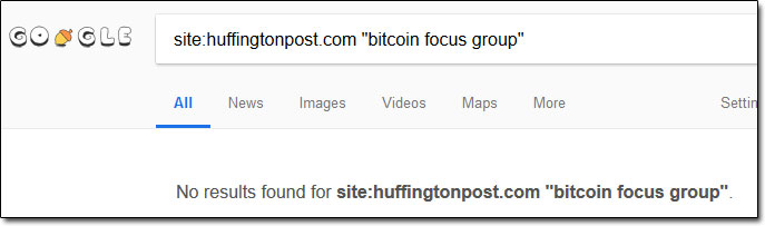 Bitcoin Focus Group Huffington Post