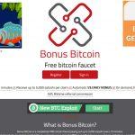 Bonus Bitcoin Faucet Website Screenshot