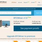 BTCMiner Website Screenshot