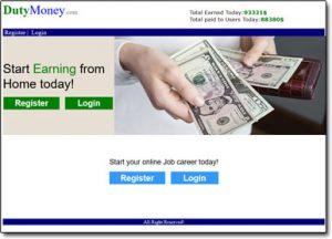 Duty Money Website Screenshot