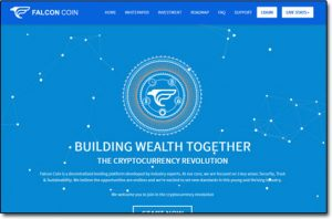 Falcon Coin Website Screenshot