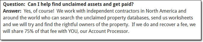 Federal Account Recovery Account Processor