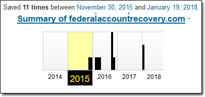 Federal Account Recovery Website History