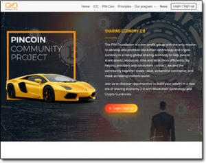 Pincoin Community Project Website Screenshot