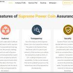 Supreme Power Coin Website Screenshot