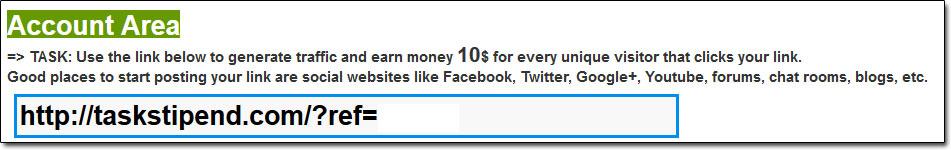 Task Stipend Task Screenshot