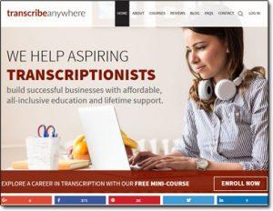 Transcribe Anywhere Website Screenshot