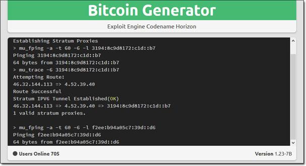 Bitcoin Generator Command Window