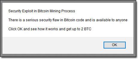 Bitcoin Generator Welcome Message