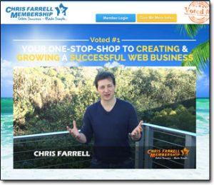Chris Farrell Membership Website Screenshot