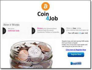 Coin 4 Job Website Screenshot