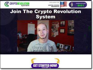 The Crypto Revolution System Website Screenshot