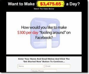 Facebook On Fire System Website Screenshot
