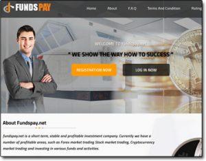 FundsPay Website Screenshot