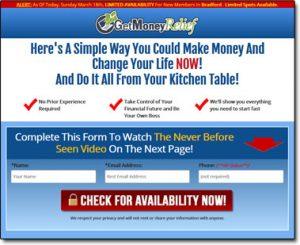 Get Money Relief Website Screenshot