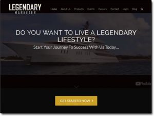 The Legendary Marketer System Website Screenshot
