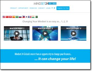Mindset 24 Global Website Screenshot