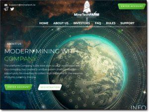 MineTech Farm Website Screenshot