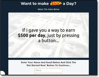 Money Sucking Websites MSW System Screenshot