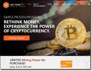 New Tycoon Plus Website Screenshot