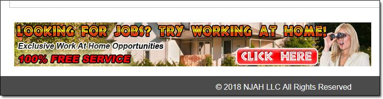 Next Job At Home Scam Advert