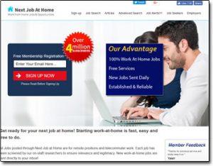 Next Job At Home Website Screenshot