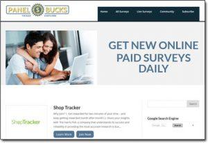Panel Bucks Website Screenshot