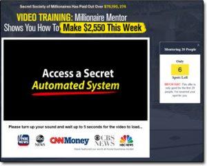 Secret Society of Millionaires Website Screenshot