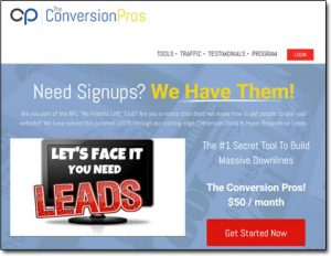 The Conversion Pros Website Screenshot