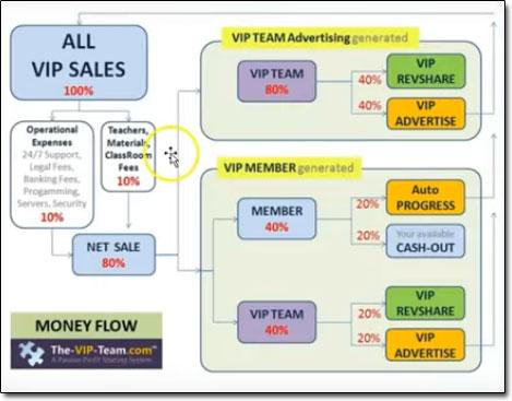 The VIP Team Money Flow Chart