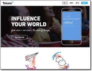 Toluna Website Screenshot