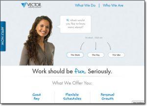 Vector Marketing Website Screenshot