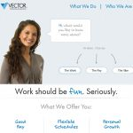 Vector Marketing Website Screenshot