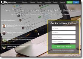 Wealthy Affiliate Website Screenshot