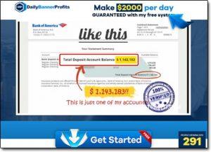 Daily Banner Profits Website Screenshot