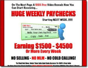 Get Weekly Paychecks Website Screenshot